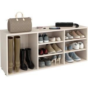 Полка для обуви Мастер Лана-3 ПОЛ-3 (1С+2П) (дуб молочный) МСТ-ПОЛ-1С-2П-ДМ-16 полка дл обуви мастер лана 3п пол 3п дуб молочный мст пол 3п дм 16