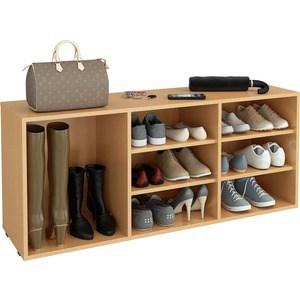 Полка для обуви Мастер Лана-3 ПОЛ-3 (1С+2П) (бук) МСТ-ПОЛ-1С-2П-БК-16 полка дл обуви мастер лана 2 пол 2 1с 1п бук мст пол 1с 1п бк 16