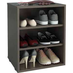 Полка для обуви Мастер Лана-1 (ПОЛ-1П) (венге) МСТ-ПОЛ-1П-ВМ-16 тумба для обуви лана пол 2 1с 1п с дверкой