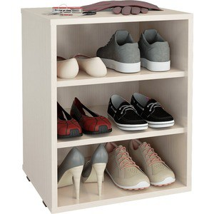 Полка для обуви Мастер Лана-1 (ПОЛ-1П) (дуб молочный) МСТ-ПОЛ-1П-ДМ-16 тумба для обуви лана пол 2 1с 1п с дверкой
