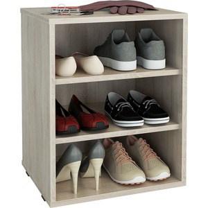 Полка для обуви Мастер Лана-1 (ПОЛ-1П) (дуб сонома) МСТ-ПОЛ-1П-ДС-16 тумба для обуви лана пол 2 1с 1п с дверкой