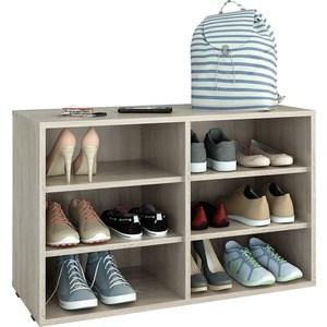 Полка для обуви Мастер Лана-2 (ПОЛ-2П) (дуб сонома) МСТ-ПОЛ-2П-ДС-16 стол мастер триан 5 дуб сонома белый мст уст 05 дс бт 16