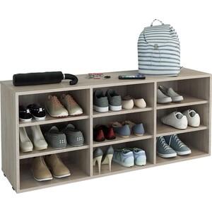 Полка для обуви Мастер Лана-3 (ПОЛ-3П) (дуб сонома) МСТ-ПОЛ-3П-ДС-16 стол мастер триан 5 дуб сонома белый мст уст 05 дс бт 16
