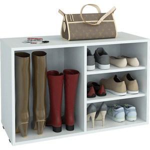 Полка для обуви Мастер Лана-2 ПОЛ-2 (1С+1П) (белый) МСТ-ПОЛ-1С-1П-БТ-16 полка дл обуви мастер лана 1п пол 1п венге мст пол 1п вм 16