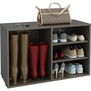 Полка для обуви Мастер Лана-2 ПОЛ-2 (1С+1П) (венге) МСТ-ПОЛ-1С-1П-ВМ-16 тумба для обуви лана пол 2 1с 1п с дверкой