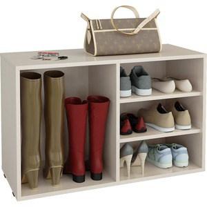 Полка для обуви Мастер Лана-2 ПОЛ-2 (1С+1П) (дуб молочный) МСТ-ПОЛ-1С-1П-ДМ-16 полка дл обуви мастер лана 1п пол 1п белый мст пол 1п бт 16
