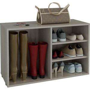 Полка для обуви Мастер Лана-2 ПОЛ-2 (1С+1П) (дуб сонома) МСТ-ПОЛ-1С-1П-ДС-16 тумба для обуви лана пол 2 1с 1п с дверкой