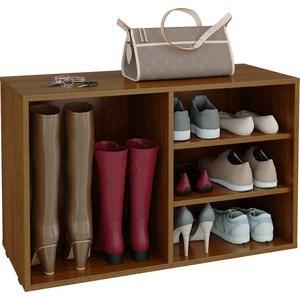 Полка для обуви Мастер Лана-2 ПОЛ-2 (1С+1П) (орех) МСТ-ПОЛ-1С-1П-ОР-16 полка для обуви мастер лана 2 пол 2 1с 1п венге мст пол 1с 1п вм 16