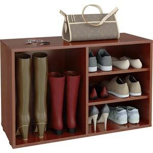 Полка для обуви Мастер Лана-2 ПОЛ-2 (1С+1П) (орех итальянский) МСТ-ПОЛ-1С-1П-ОИ-16 тумба для обуви лана пол 2 1с 1п с дверкой