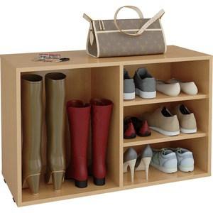 Полка для обуви Мастер Лана-2 ПОЛ-2 (1С+1П) (бук) МСТ-ПОЛ-1С-1П-БК-16 полка для обуви мастер лана 2 пол 2 1с 1п венге мст пол 1с 1п вм 16