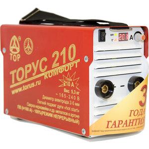 Фотография товара сварочный инвертор Торус 210 Комфорт+провода (667623)