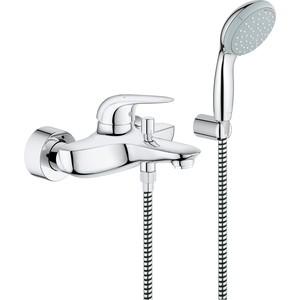 Смеситель для ванны Grohe Eurostyle с душевым гарнитуром, хром (23729003) смеситель для ванны vidima уно с прямоугольным поворотным изливом с душевым гарнитуром ba320aa