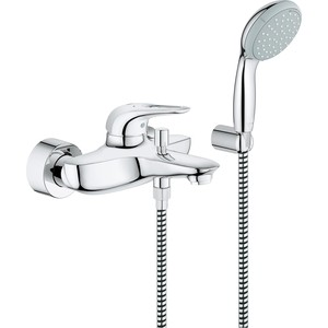 Смеситель для ванны Grohe Eurostyle с душевым гарнитуром, хром (33592003) смеситель для ванны vidima уно с прямоугольным поворотным изливом с душевым гарнитуром ba320aa