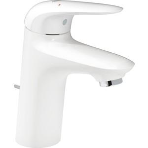 Смеситель для раковины Grohe Eurostyle низкий с донным клапаном, белый (23707LS3)