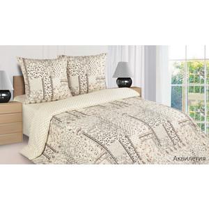 Комплект постельного белья Ecotex 1,5 сп, поплин, Аквилегия (КП1Аквилегия)