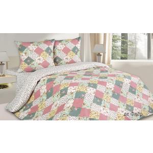 Комплект постельного белья Ecotex 1,5 сп, поплин, де Флер (КП1де Флер )
