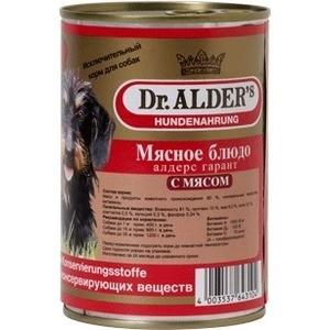 Консервы Dr.ALDER's Мясное блюдо алдерс гарант с мясом (говядина) для собак 410г (7738) консервы верные друзья говядина для собак 650г