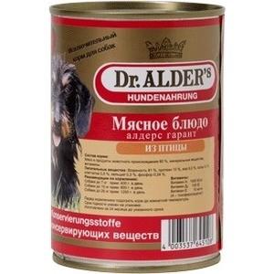 Консервы Dr.ALDER's Мясное блюдо алдерс гарант из птицы для собак 410г (7742)