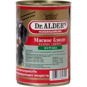 Консервы Dr.ALDER's Мясное блюдо алдерс гарант из рубца для собак 410г (7743) цена 2017