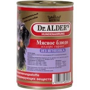 Консервы Dr.ALDER's Мясное блюдо алдерс гарант из ягнёнка для собак 410г (7744) гарант евро 67t