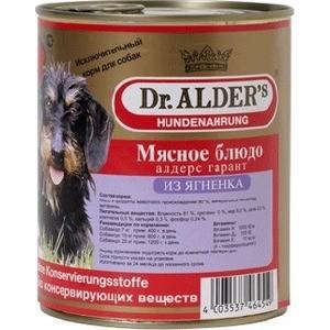 Консервы Dr.ALDER's Мясное блюдо алдерс гарант из ягнёнка для собак 750г (7741) гарант евро 67t