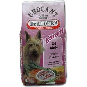 все цены на Сухой корм Dr.ALDER's Crocant Garant С4 Aktiv Premium крокеты с говядиной для активных собак 18кг (132 )