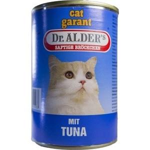 Консервы Dr.ALDER's Cat Garant Saftige Brockchen Mit Tuna с тунцом для кошек 415г (1937) консервы almo nature legend adult cat with tuna and sweet corn с тунцом и сладкой кукурузой для кошек 70г 2567