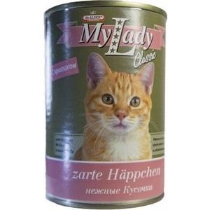 Консервы Dr.ALDER's MyLady Classic Zarte Happchen нежные кусочки с кроликом для кошек 415г (1975) цена