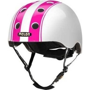 Шлем Melon Double Pink White Глянцевый XL-XXL (58-63 см) (162103) 2018 fashion yohee double lens motorcycle helmet yh 970 full face motorbike helmets made of abs pc visor lens size m l xl xxl