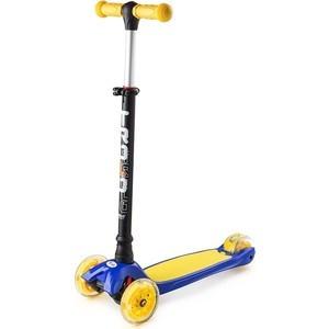 Самокат 3-х колесный Trolo MAXI 2017 (регулируемый по высоте руль) Синий-желтый (TMX140316) самокат 3 х колесный 21st scooter 21st scooter самокат 3 х колесный maxi scooter зеленый