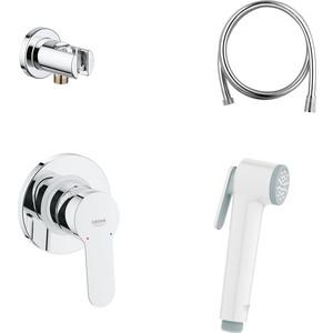 Гигиенический душ со смесителем Grohe BauEdge скрытого монтажа, душ белый (124897) механизм grohe скрытого вентиля 29811000