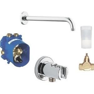 Душевая система Grohe Rainshower держатель ручного душа, кронштейн, вентиль и термостат без панелей (124452)