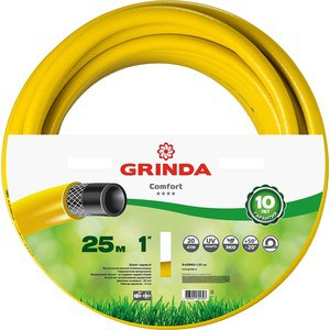 Шланг Grinda Comfort поливочный, 20 атм., 1х25м (8-429003-1-25_z02) набор поливочный grinda 4 предмета 8 427247
