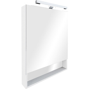 Зеркальный шкаф со светильником Roca Gap 70 см, белый (ZRU9302749) зеркальный шкафчик roca the gap 70 см белый zru9302749