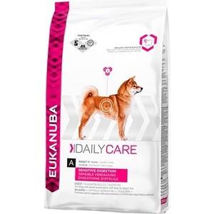 Фотография товара сухой корм Eukanuba Adult Dog Daily Care Sensitive Digestion для собак с чувствительным пищеварением 12,5кг (669242)