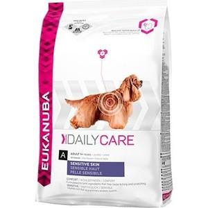Сухой корм Eukanuba Adult Dog Daily Care Sensitive Skin для собак с чувствительной кожей 12кг сухой корм brit care dog endurance для активных собак утка с рисом 12кг