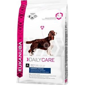 Фотография товара сухой корм Eukanuba Adult Dog Daily Care Overweight, Sterilised для стерилизованных и собак с лишним весом 2,5кг (669247)