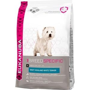 Фотография товара сухой корм Eukanuba Adult Dog Breed Specific West HighLand White Terrier для собак породы вест-хайленд терьер 2,5кг (669248)