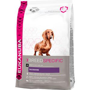 Фотография товара сухой корм Eukanuba Adult Dog Breed Specific Dachshund для собак породы такса 2,5кг (669256)