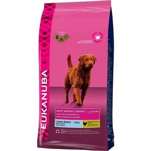Сухой корм Eukanuba Adult Dog Large Breed Weight Control with Chicken с курицей контроль веса для взрослых собак крупных пород 15кг pro pac dog large breed