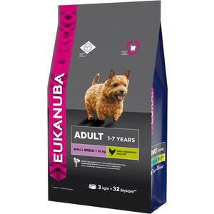 Сухой корм Eukanuba Adult Dog Small Breed Rich in Chicken с курицей для взрослых собак мелких пород 3кг pet shop boys brasília