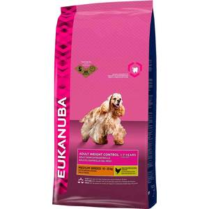 Сухой корм Eukanuba Adult Dog Medium Breed Weight Control with Chicken с курицей контроль веса для взрослых собак средних пород 15кг skhifio bluetooth earphone wireless headphone with mic stereo in ear sport headset earbuds music earphones for phone iphone