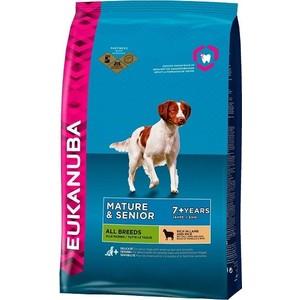 Фотография товара сухой корм Eukanuba Mature & Senior Dog 7+ Years All Breed Rich in Lamb and Rice с ягненком и рисом для пожилых собак всех пород 2,5кг (669275)