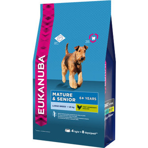 Сухой корм Eukanuba Mature & Senior Dog 6+ Years Large Breed with Chicken с курицей для пожилых собак крупных пород 4кг eukanuba eukanuba adult cat 1 years with salmon