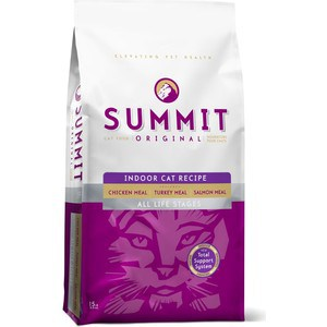 Сухой корм SUMMIT Original Indoor Cat Recipe Chicken,Turkey&Salmon с курицей, индейкой и лососем все стадии жизни для домашних кошек 1,8кг (20366) консервы gemon cat senior chunkies with chicken and turkey с курицей и индейкой кусочки для пожилых кошек 415г