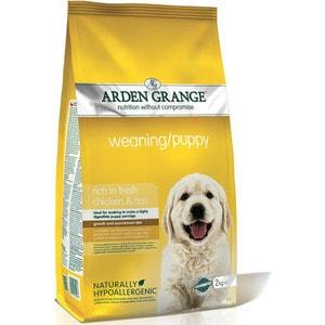 Сухой корм ARDEN GRANGE Weaning/Puppy Hypoallergenic Rich in Fresh Chicken&Rice гипоалергенный с курицей и рисом для щенков 2кг (AG600286) цены онлайн