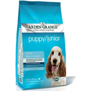 Сухой корм ARDEN GRANGE Puppy/Junior Hypoallergenic Rich in Fresh Chicken гипоалергенный с курицей для щенков и молодых собак 2кг (AG601283) игровой набор puppy in my pocket брелок сумочка голубая и 5 щенков