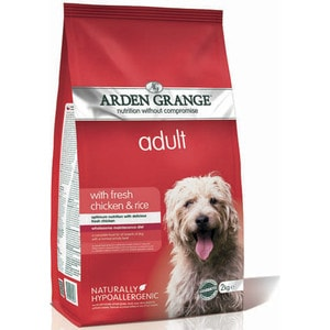 Сухой корм ARDEN GRANGE Adult Dog Hypoallergenic with Fresh Chicken&Rice гипоалергенный с курицей и рисом для взрослых собак 12кг (AG603348) цены онлайн