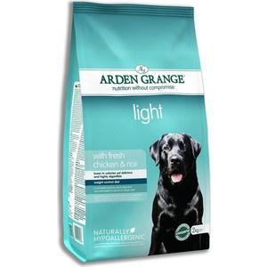 Сухой корм ARDEN GRANGE Adult Dog Light Hypoallergenic with Fresh Chicken&Rice облегченный с курицей и рисом для взрослых собак 12кг (AG606349) цена