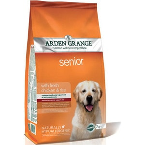 Сухой корм ARDEN GRANGE Senior Dog Hypoallergenic with Fresh Chicken&Rice гипоалергенный с курицей и рисом для пожилых собак 12кг (AG607346) chimaera black brown deep brown handmade crocodile alligator grain 20mm 21mm 22mm genuine calf leather watch band strap for iwc